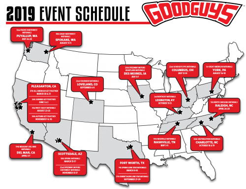 Goodguys Announces 2019 Schedule
