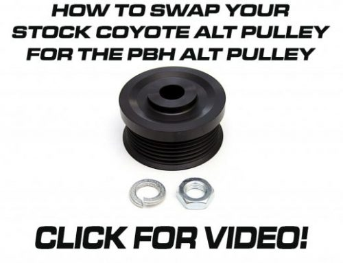 How to swap out the oem one way clutch alternator pulley with the PBH clutchless pulley