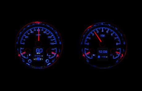 HDX Early Mustang and Falcon Coyote Swap Dakota Digital Gauges